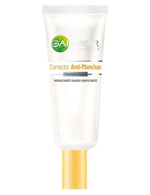 <p>'Corrector Anti-Manchas'&nbsp; (12,48 €), de <strong>Garnier</strong>. Fórmula no grasa con vitamina C.</p>