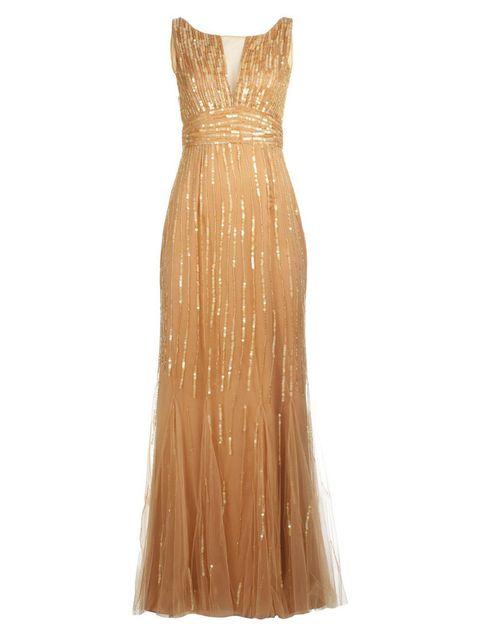 <p>No es idéntico, pero si te encanta el tono del vestido de <strong>Jessica Chastain</strong> y la forma, no dudes en elegir este modelo dorado de<strong> BDBA.</strong></p>