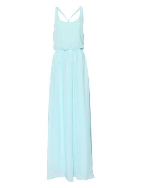 <p>Vestido largo color mint muy sencillo, <strong>de Pull&Bear, 39,99€.</strong></p><p></p>