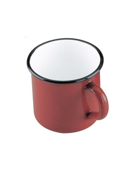 """<p>Esta taza en color cereza y borde redondeado (en muchas zonas conocido como pote) es otro de los míticos dentro de una cocina de hace 60 años. Con el bordado hecho a mano, éste lo encontrarás en <a href=""""http://www.bazarvictoria.es/tiendabv/menaje-para-servir/1068-pote-rojo-040-lts-8-cms.html"""" target=""""_blank"""">Bazar Victoria</a> (3,50 €).</p>"""