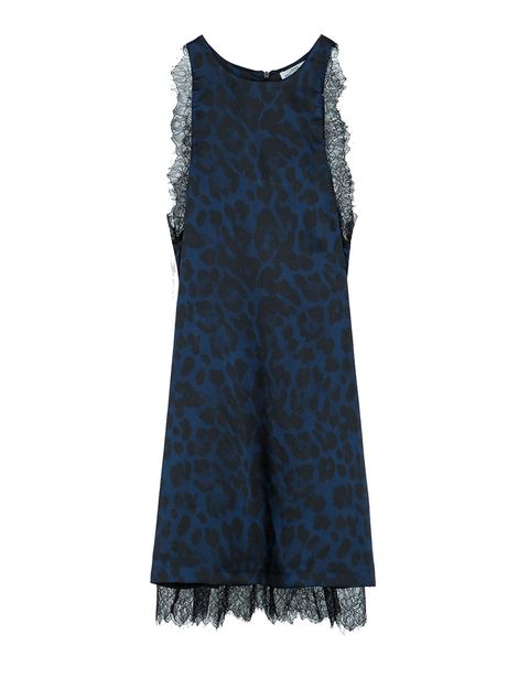 <p>Vestido de print animal con encaje, de Zara, 39,95 €.</p>