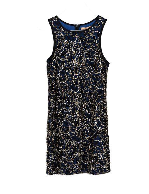 <p>Vestido azul con brillos de Zara, 35,95 €</p>