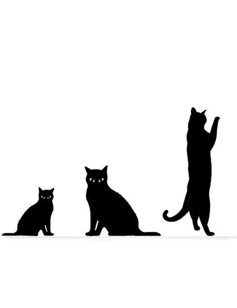 <p>Los celtas consideraban al <strong>gato negro</strong> como la forma en la que el mismísimo demonio transformaba a algunos humanos como severo castigo. Otras leyendas dicen que eran las brujas quienes se disfrazaban así, para pasar desapercibidas mientras observaban la ciudad. Así, si un gato negro se cruzaba en tu camino, la mala suerte acecharía tu vida. ¿El antídoto? Dar 7 pasos hacia atrás justo en el momento en el que tiene lugar el encuentro. Así, ahuyentarás la maldición.</p><p>Si no eres supersticiosa, ficha este decorado de<strong>Myvinilo</strong> para colocar en tu pared (29,90 €).</p>