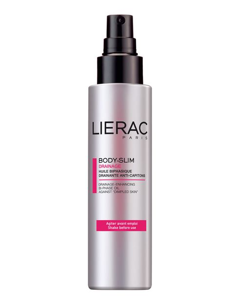 <p>'Aceite bifásico drenante Body-Slim' (29 €), de <strong>Lierac</strong>. Lucha contra la retención de agua y la celulitis y, gracias a su fórmula sin cafeína, es apto para mujeres embarazadas.</p>