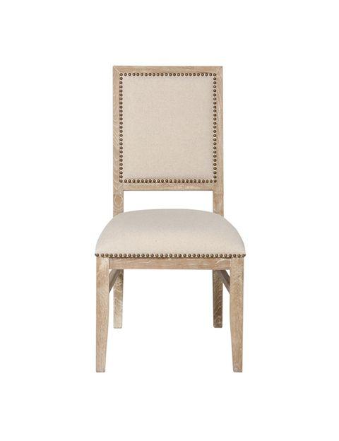"""<p>Silla de madera de roble en color natural, con tapicería clara y tachuelas doradas (130 €), de <a href=""""http://www.elcorteingles.es/tienda/hogar/browse/productDetail.jsp?productId=A5509575&amp&#x3B;categoryId=997.1412684717&amp&#x3B;selectedSkuColor=135.1321889513&amp&#x3B;fromAjax=true&amp&#x3B;elementoId=997.1412683146&amp&#x3B;cm_mmc=elle%20_%20espacios%20digitales-_-acuerdo%20_%202014-11-06%20_%20hogar-_-noticia%20_%20deco-_-casa%20urbanita"""" target=""""_blank""""><strong>El Corte Inglés.</strong></a></p>"""