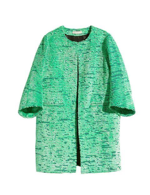 <p>Abrigo verde de <strong>H&amp;M</strong>, 99 €.</p>