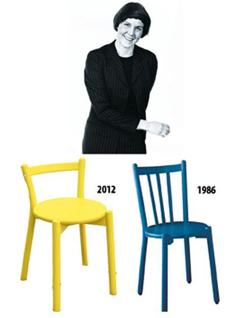 <p><strong>Lisa Norinder</strong> ideó un cruce entre silla-taburete, cómodo y ligero. Su punto de partida: la silla<i> Albert</i>, que su padre Lars (fallecido en 1992 y diseñador de Ikea) lanzó en 1986. Lisa redujo el tamaño para hacerlo apilable.</p>