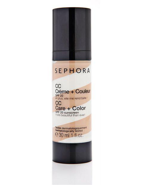 <p>CC Cream con factor de protección 20 de <strong>Sephora</strong> (19,37€).</p>