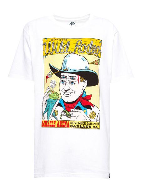 <p>El marcado estilo pop de Kozik se refleja en esta camiseta de temática 'Far West', 12,99 €.</p>