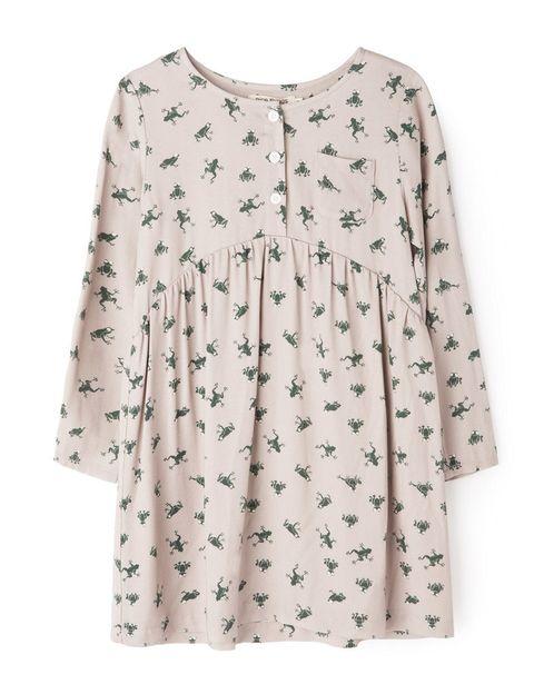 <p>Vestido con estampado de ranas (52 €). </p>