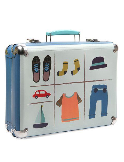 """<p>Ponle un toque antiguo a tus equipajes para viajes cortos con esta preciosa maleta con cierres metálicos (25,45 € aprox.), de <a href=""""http://www.paperchase.co.uk/just-in-case-suitcase.html"""" target=""""_blank"""">Paperchase.</a></p>"""