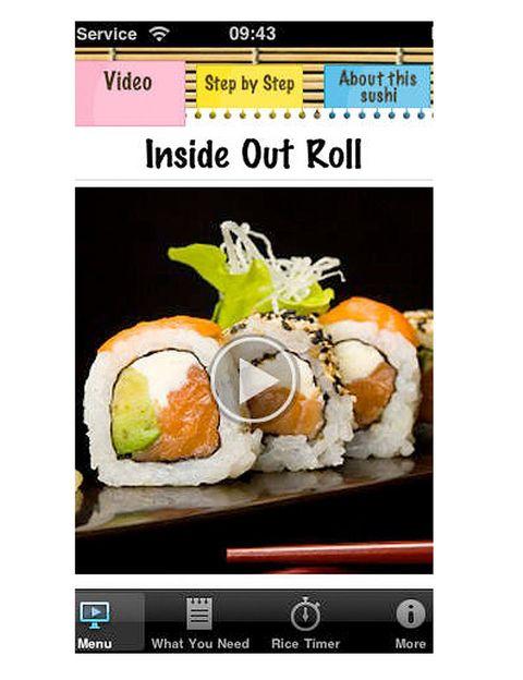 <p>Es una de las aplicaciones más completas si lo que quieres es aprender a hacer sushi. Numerosos vídeos y fotografías explicativos, temporizador integrado para cocer el arroz en su punto, un mapa que te indicará el supermercado japonés más cercano a donde te encuentras… y, por supuesto, cientos de recetas. Eso sí, barato no es. La versión para iPhone cuesta 4,49 euros y, para iPad, 5,99 euros.</p>