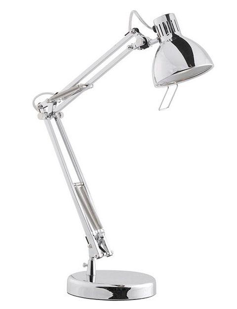 """<p>Cromo y metal para una lámpara que pondrá el toque de elegancia en tu mesa de despacho. De <a href=""""http://www.elcorteingles.es/tienda/hogar/browse/productDetail.jsp?productId=A5357407&amp;categoryId=999.1331643566&amp;selectedSkuColor=135.1333960052&amp;fromAjax=true&amp;cm_mmc=elle%20_%20contenedores-_-semana%20fantastica%20_%202013-09-12%20_%20hogar-_-noticia%20_%20deco-_-hogar"""" target=""""_blank""""><strong>Urban Class</strong></a> (29 €).</p>"""