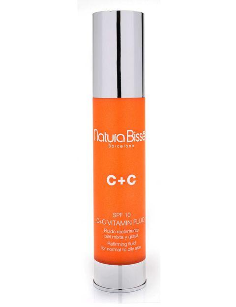 <p>'C+C Vitamin Fluid' (68,50 €), de <strong>Natura Bissé</strong>. Con un 3% de vitamina C antioxidante.</p>