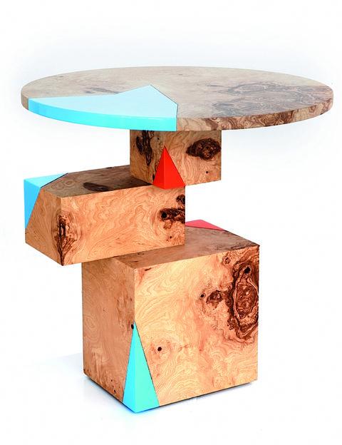"""<p>Arte y diseño en la mesa de madera <i>Equilibrium</i> (2.299 €), en <a href=""""http://www.portobellostreet.es/"""" target=""""_blank"""">www.portobellostreet.es</a>. </p>"""
