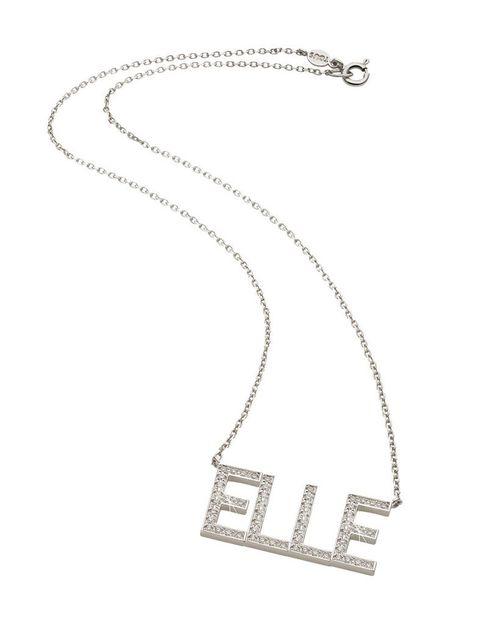 <p>Collar con inscripción de pavé de brillantes, de <strong>Tous.</strong></p>