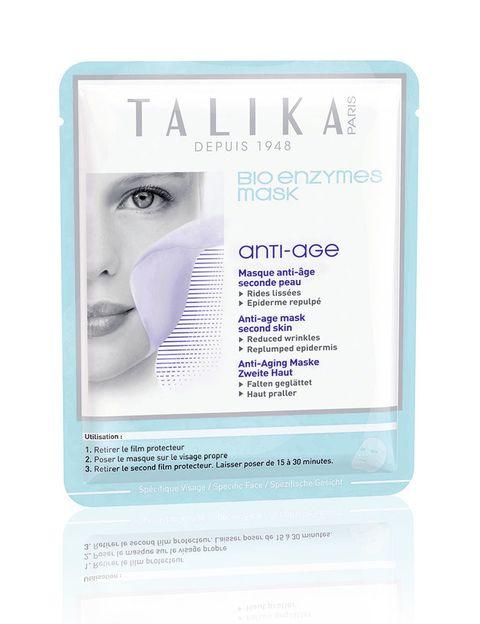 <p>'Bio Enzymes Mask' (xx €) de <strong>Talika</strong>. Con efecto 'antiage' e impregnada en biocelulosa.</p>