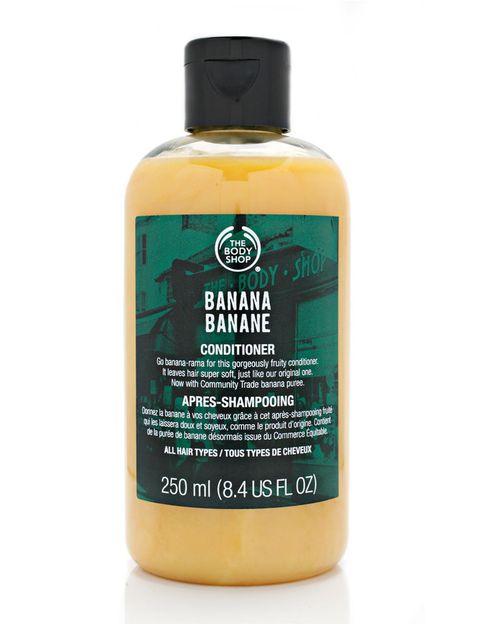 <p>'Acondicionador de Banana' (5 €), de <strong>The Body Shop</strong>. Sin siliconas.</p>