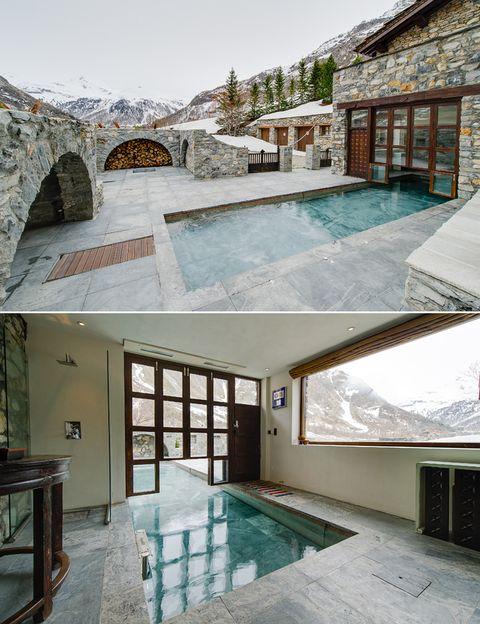 <p>Si lo tuyo es la montaña, no te pierdas este antiguo monasterio de los Alpes, convertido ahora en chalet. Su piscina está oculta y aparece con solo tocar un botón, se pueden cambiar los colores del agua en función del estado de ánimo, se puede variar la profundidad y dispone de una parte al aire libre y otra cubierta.</p>