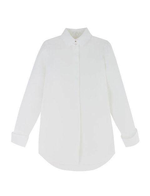 <p>Otra prenda fundamental, una camisa blanca con ligero neopreno y con la espalda abierta.&nbsp;</p>