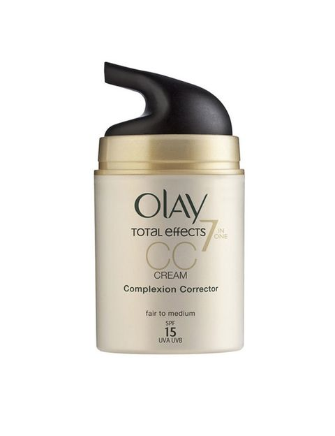 <p>CC Cream Total Effects de <strong>Olay</strong> 7 in 1 'SPF' 15 (34,61€).</p>