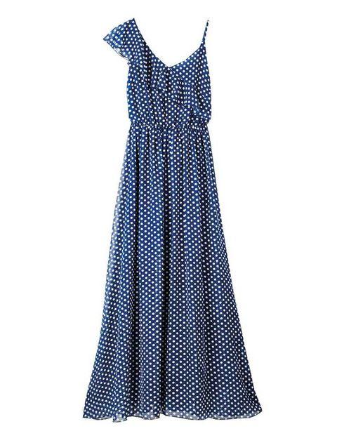 <p>Vestido azul con tirantes asimétricos, de <strong>Kling</strong> (49,90 €).</p>
