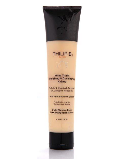 <p>'White Truffle Hair Cream' (95 €), de <strong>Philip B</strong>. Crema intensiva para cabellos muy secos y castigados.</p>