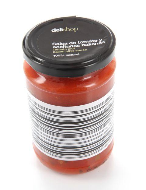 <p>Salsa de tomate con aceitunas negras de <strong>Delishop</strong>.</p>
