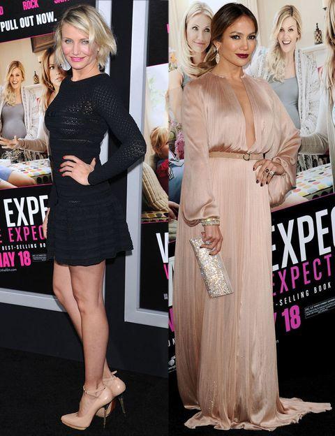 <p>Para el estreno en Los Angeles de su último trabajo juntas, Cameron apostó por un sencillo little black dress de&nbsp;<strong>Valentino</strong> y salones nude de <strong>Lanvin</strong>.&nbsp;Por su parte, Jennifer eligió un sofisticado vestido largo de seda plisada en color nude de&nbsp;<strong>Maria Lucia Hohan</strong> y añadió un toque brillante al look con su clutch de <strong>Swarovski</strong>.</p>