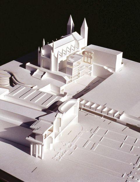 <p>Detalle de la maqueta de la ampliación del Museo del Prado de Madrid (1998-2007).</p>