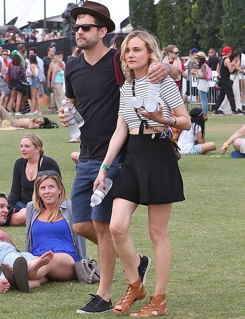 <p>Son la pareja estrella de Coachella:<strong>Diane Kruger y Joshua Jackson</strong> no faltaron a su cita con sus grupos de música favoritos y para la ocasión eligieron looks cómodos y a la última.</p>