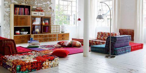 Como Decorar El Salon Con Estilo Boho Folk - Como-decorar-el-salon