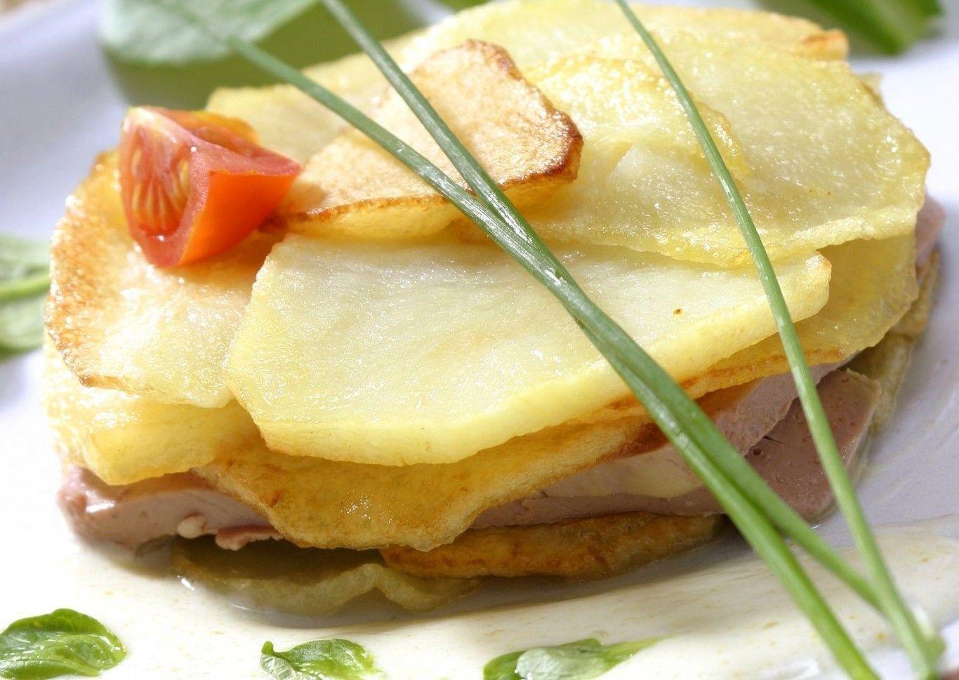 Patata Porner patatas confitadas con foie de oca