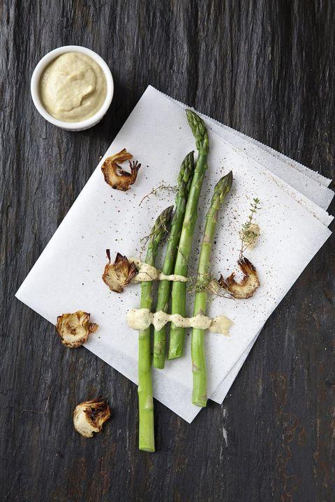 Wood, Serveware, Food, Ingredient, Dishware, Leaf, Vegetable, Cup, Produce, Asparagus,