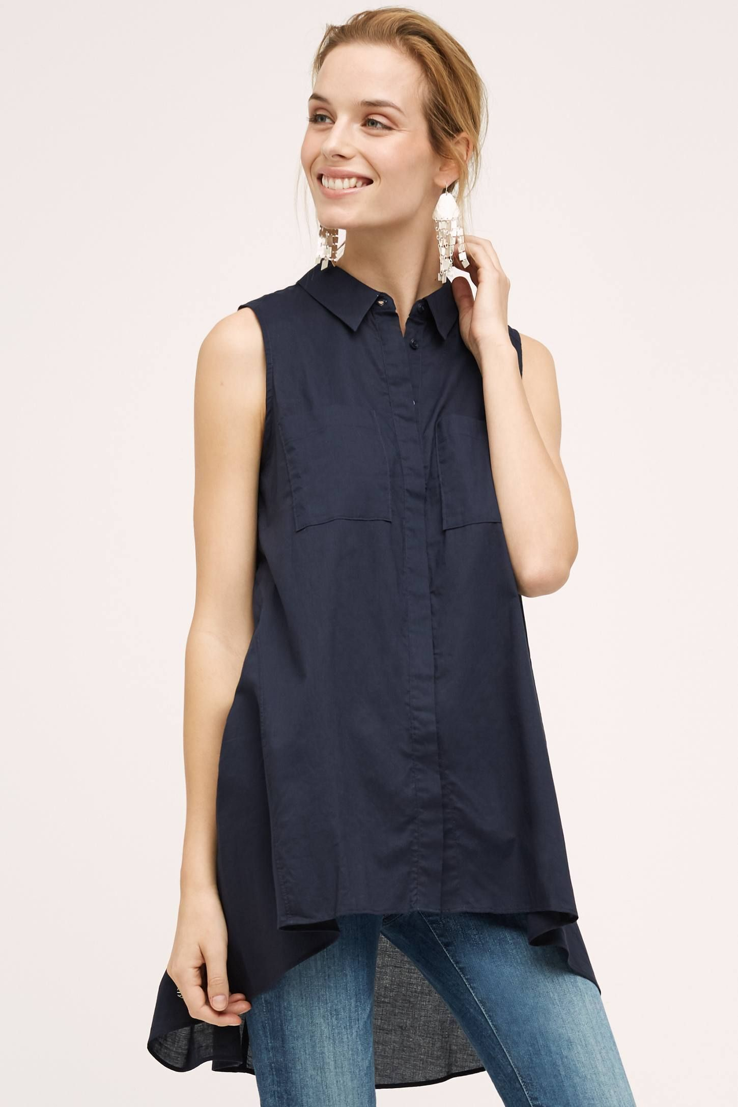 "<p>Camisa-túnica sin mangas de <a href=""http://rstyle.me/n/bs42yhb64xf%20"" target=""_blank"">Anthropologie</a>, 56,95 euros.</p>"