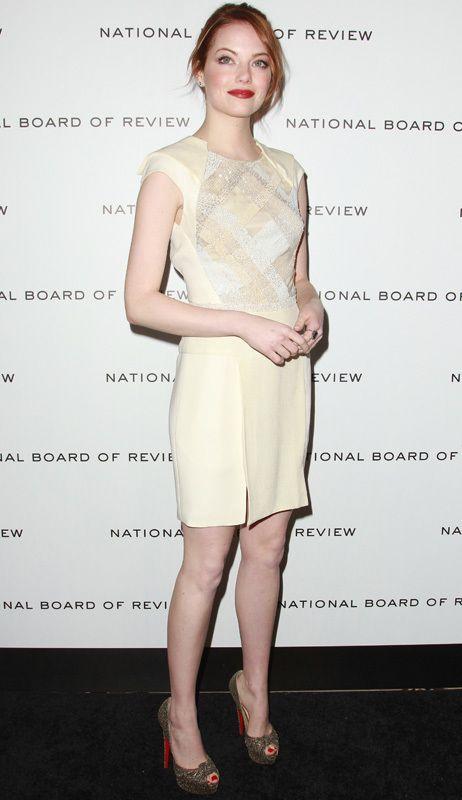 <p>Los <i>little white dress </i>son el nuevo básico para cualquier evento. Copia este diseño con cuerpo bordado de cristal de <strong>J. Mendel </strong>que luce Emma Stone.</p>