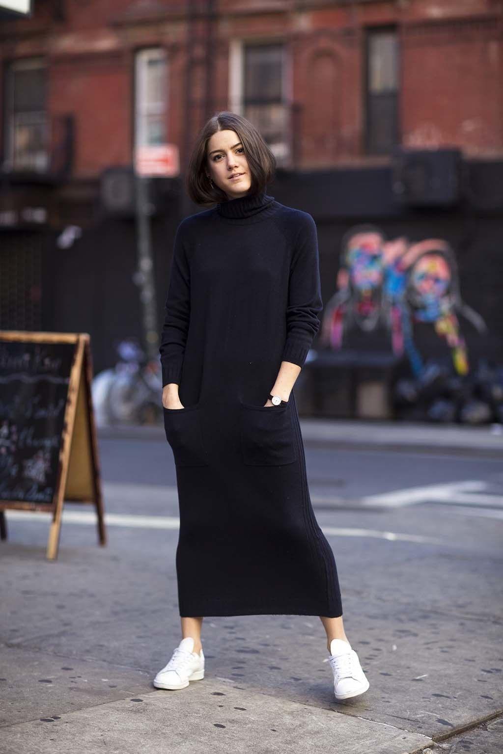 Vestidos de invierno con zapatillas