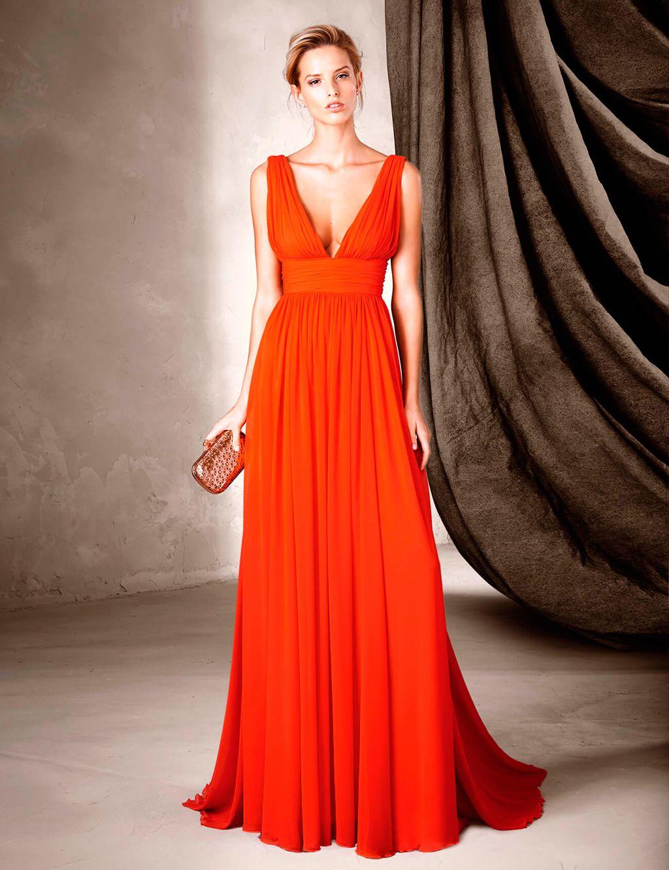 Vestido corte griego invitada boda