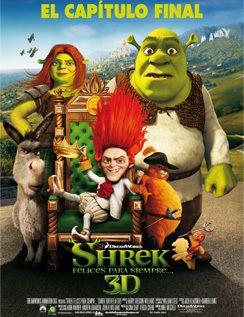 <p>Cuarta y última entrega de las aventuras del ogro verde, en la que Shrek tendrá que luchar por volver a su antigua y tranquila vida. </p><p><strong>Te gustará:</strong> Si eres fan de la animación gamberra con un punto ácido. </p><p><strong>No la veas: </strong>Si vas a tener la tentación de compararla con las anteriores. Las cuartas partes nunca fueron mejores.</p>