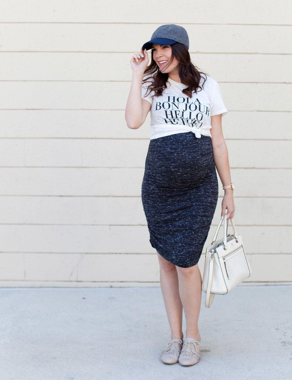 a90563177 Looks de embarazada  9 meses con estilo - Cómo vestir durante el embarazo