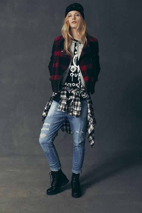 <p>Cuadros de franela en cazadoras bómber y diseños oversize combinados con camisetas con mensajes y vaqueros estilo 'boyfriend', son algunos de los elementos clave de la colección Primark otoño 2013.</p>