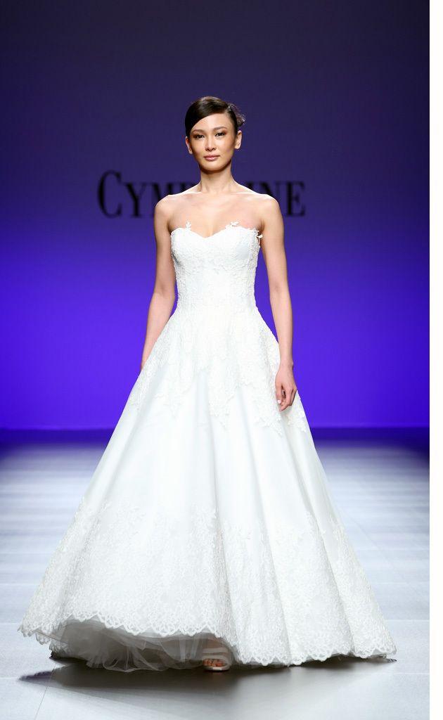 Hermosa Vestidos Novia Cymbeline Festooning - Ideas para el Banquete ...