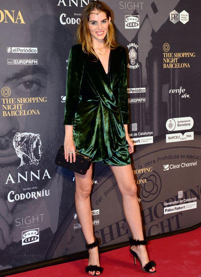 Combinar vestido terciopelo verde