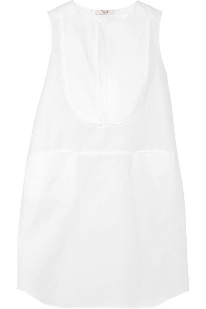 <p>Vestido camisero sin mangas con babero de&nbsp&#x3B;<strong>Atlantique Ascoli.</strong></p>