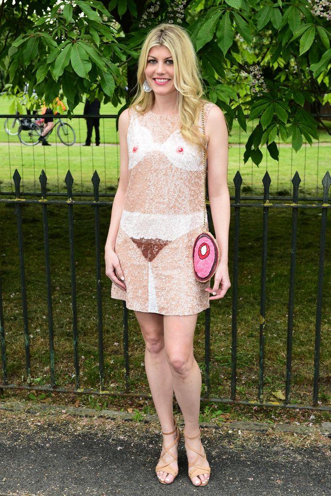 <p>Sin palabras nos hemos quedado todos con los atrevidos dibujos del vestido de <strong>Meredith Ostrum</strong>.</p>