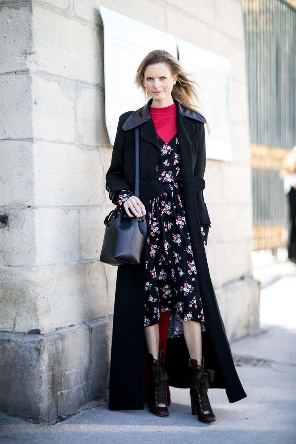 Como vestir un vestido en invierno