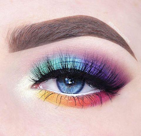 Blue, Brown, Eye, Green, Eyelash, Skin, Eyebrow, Purple, Colorfulness, Violet,