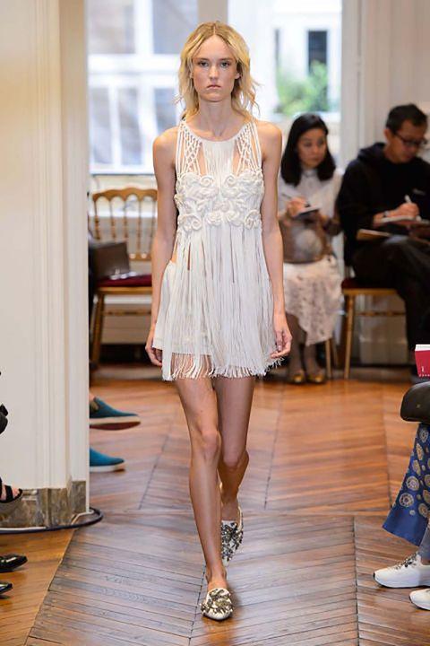 Clothing, Footwear, Leg, Shoulder, Dress, Style, Fashion, Waist, Thigh, Fashion model,
