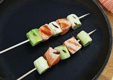 Cuisine, Green, Food, Finger food, Ingredient, Dishware, appetizer, Skewer, Tableware, Dish,