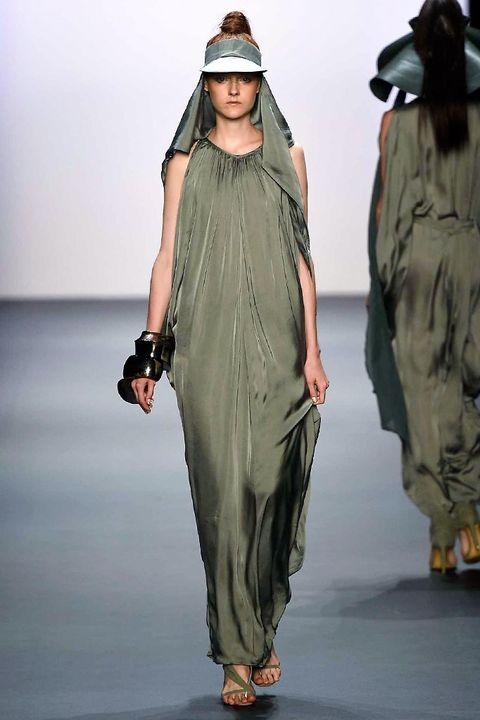 Sleeve, Shoulder, Joint, Fashion model, Dress, Headgear, Fashion, One-piece garment, Sandal, Street fashion,